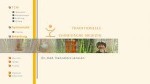 website dr. hannelore Jannsen, traditionelle chinesische Medizin