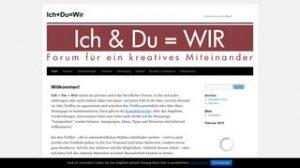 Website ich und Du ist wir, Forum für ein kreatives Miteinander