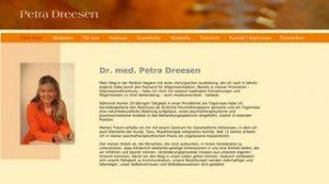 Website Petra Dreesen, Psychotherapie